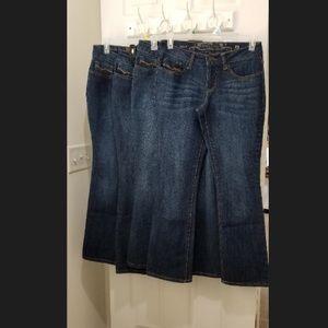 Jeans each size 8 petite
